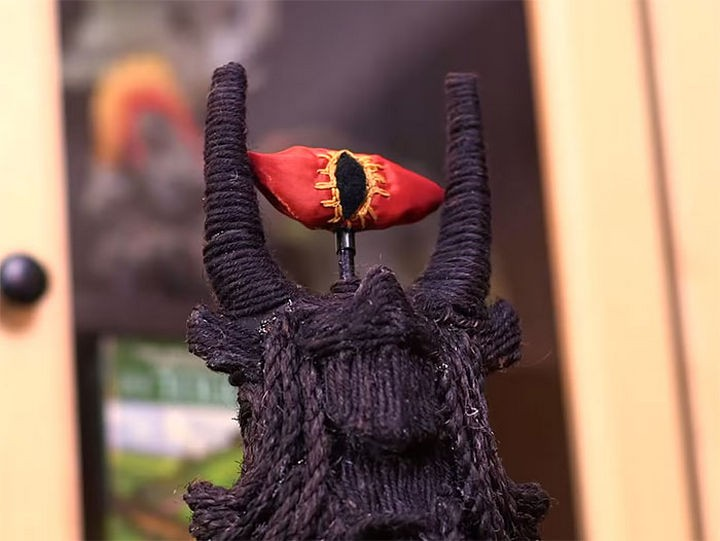 The Eye of Sauron is hand sewn and contains catnip.