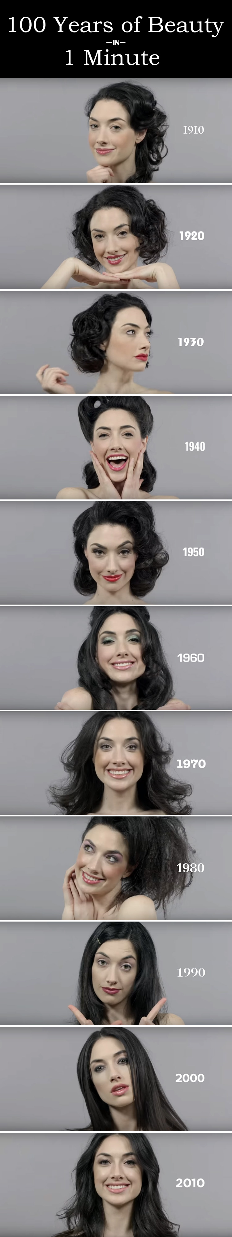 Watch 100 Years of Beauty Trends in Only 1 Minute