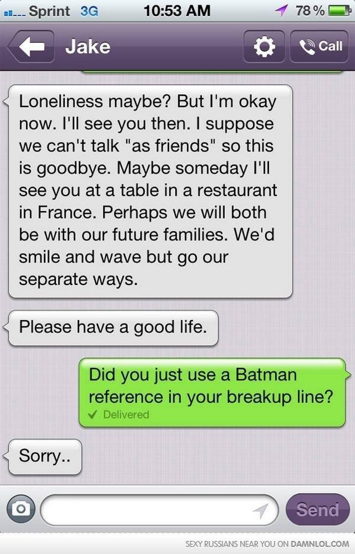 10 Breakup Letters You Won't Believe Are Real - The Dark Knight Rises.