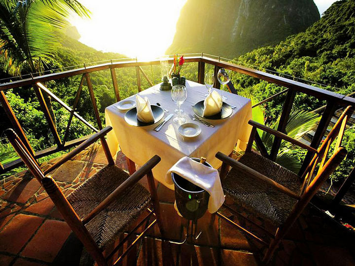 12 Amazingly Cool Hotels - Ladera Resort, St. Lucia.
