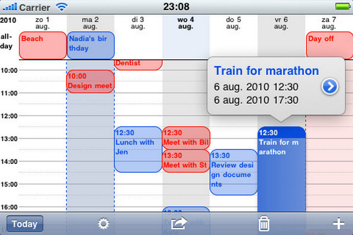 19 iPhone Tips and Tricks - See more details in your calendar.