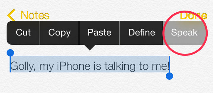 19 iPhone Tips and Tricks - Have your iPhone read out selected text or the entire screen.