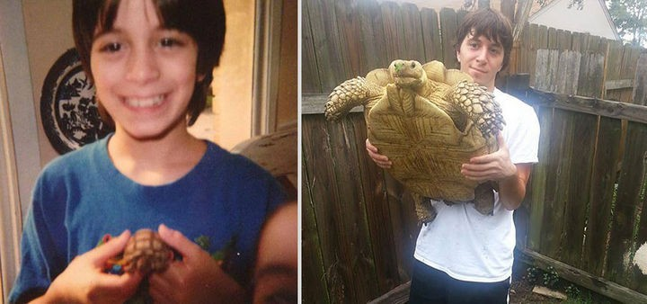24 Before and After Photos of Pets and Their Humans - 17 year difference.