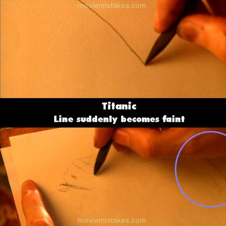 20 Titanic Movie Mistakes - Line suddenly becomes faint.