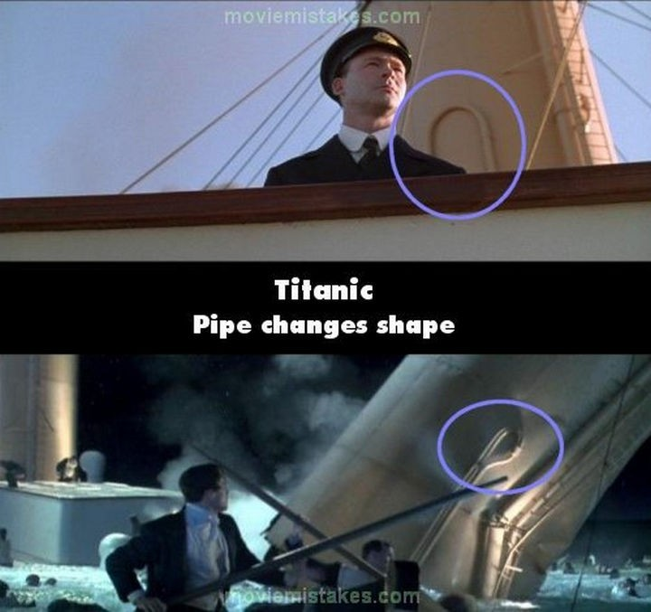 20 Titanic Movie Mistakes - Pipe changes shape.