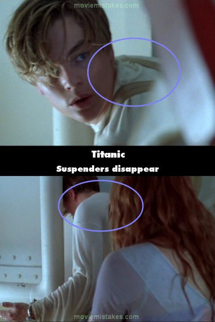 20 Titanic Movie Mistakes - Suspenders disappear.