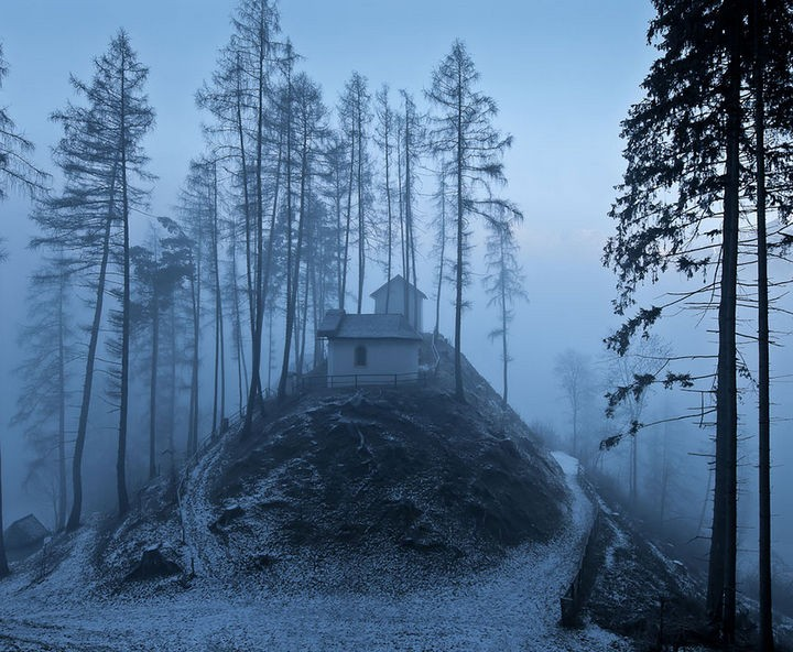 22 Cozy Houses in a Winter Paradise - Dusk in Tirol, Austria.