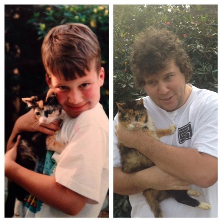 24 Before and After Photos of Pets and Their Humans - 21 year difference!