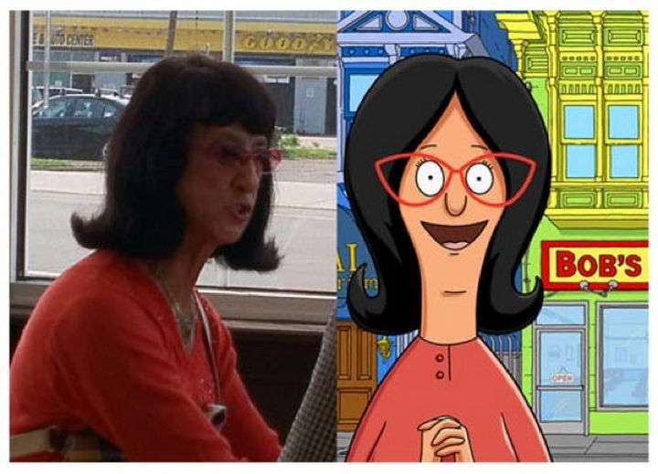25 People That Look Like Cartoon Characters In Real Life - Linda Belcher of Bob's Burgers.
