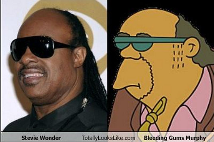 25 People That Look Like Cartoon Characters In Real Life - Bleeding Gums Murphy of The Simpsons.