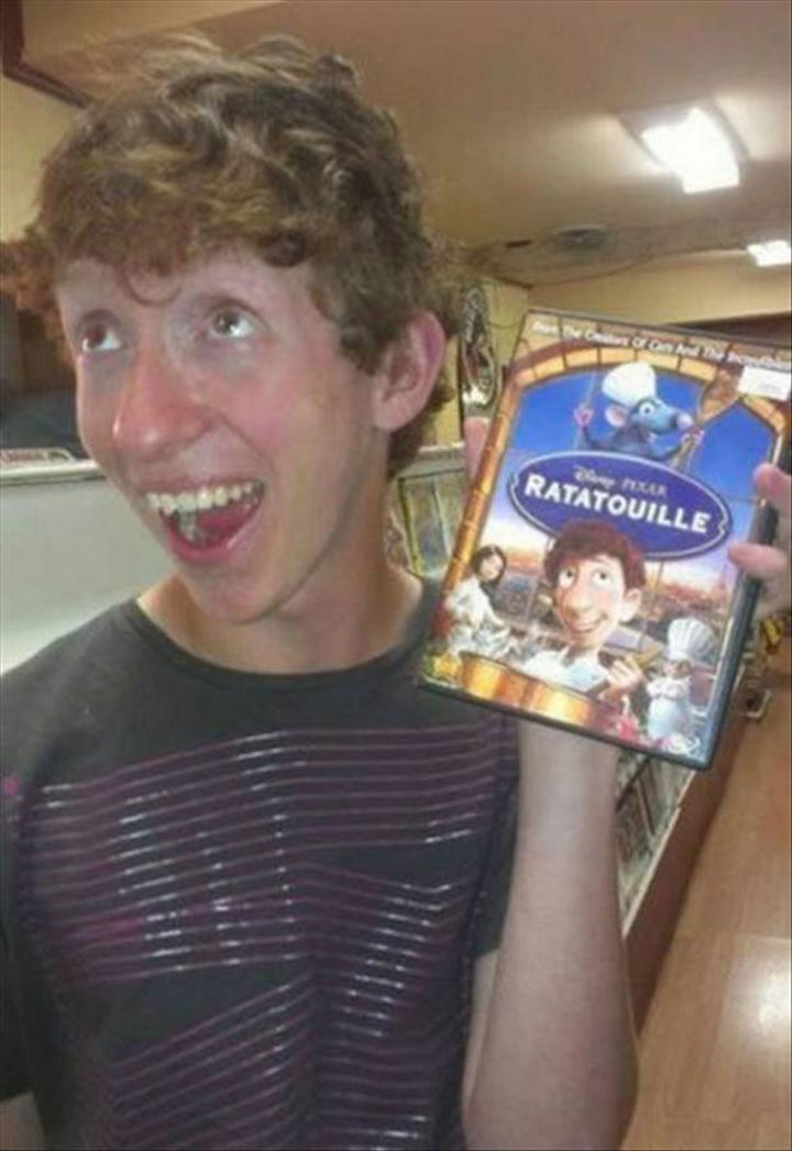 25 People That Look Like Cartoon Characters In Real Life - Alfredo Linguini of Ratatouille.