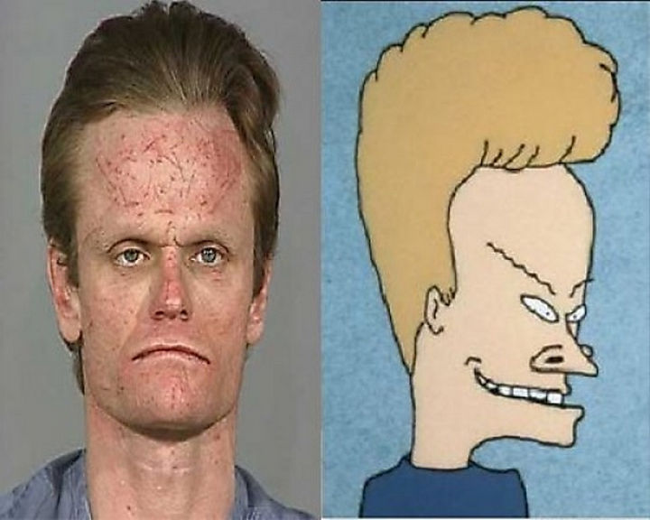25 People That Look Like Cartoon Characters In Real Life - Beavis of Beavis and Butt-head.