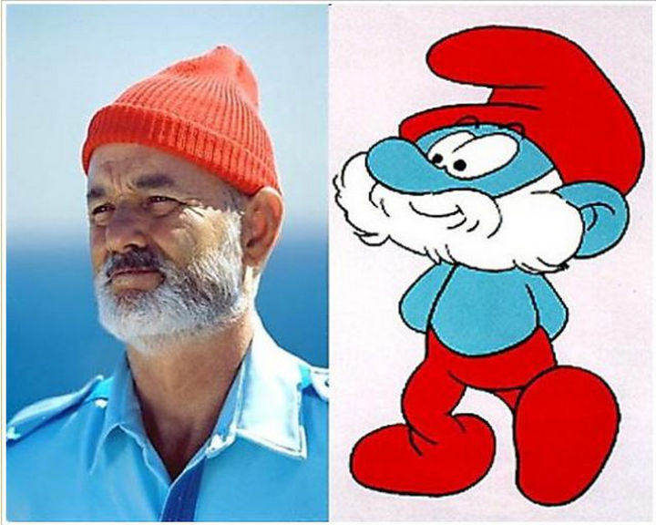 25 People That Look Like Cartoon Characters In Real Life - Papa Smurf of The Smurfs.