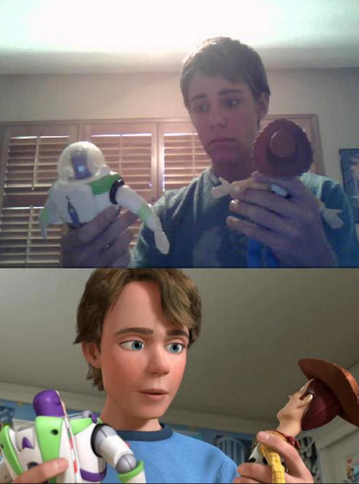 25 People That Look Like Cartoon Characters In Real Life - Andy of Toy Story.