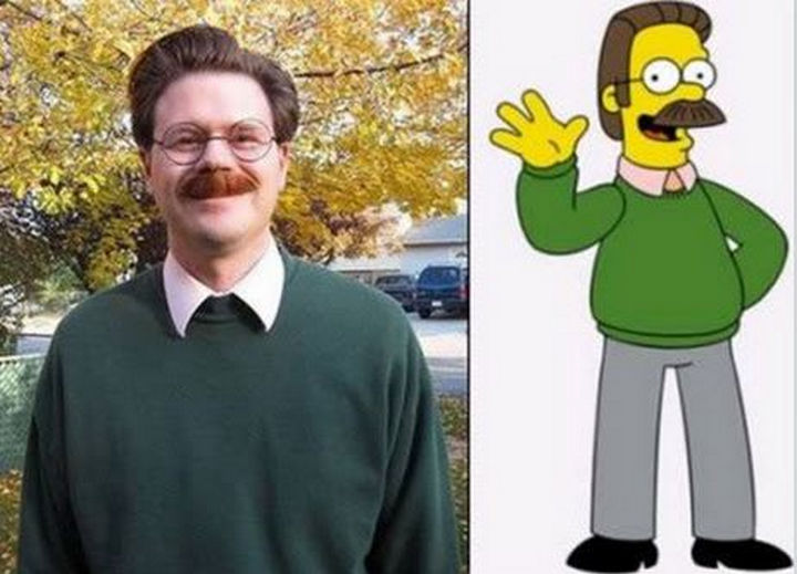 25 People That Look Like Cartoon Characters In Real Life - Ned Flanders of The Simpsons.