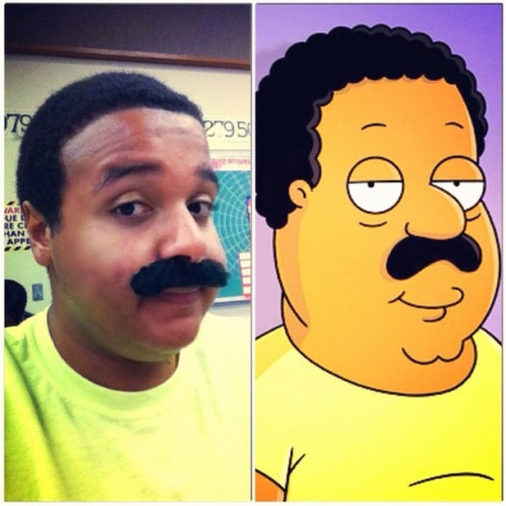 25 People That Look Like Cartoon Characters In Real Life - Cleveland of Family Guy.
