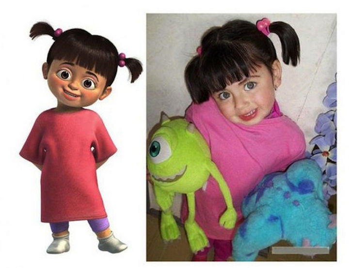 25 People That Look Like Cartoon Characters In Real Life - Boo of Monsters, Inc.