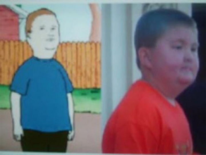 25 People That Look Like Cartoon Characters In Real Life - Bobby Hill of King of the Hill.