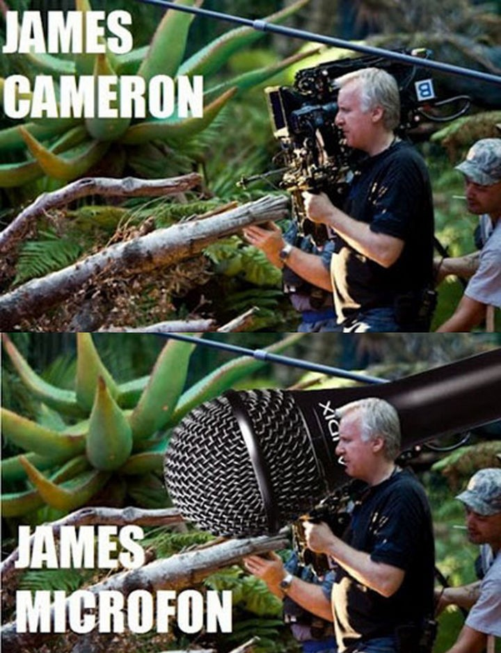 55 Hilariously Funny Celebrity Name Puns - James Cameron.