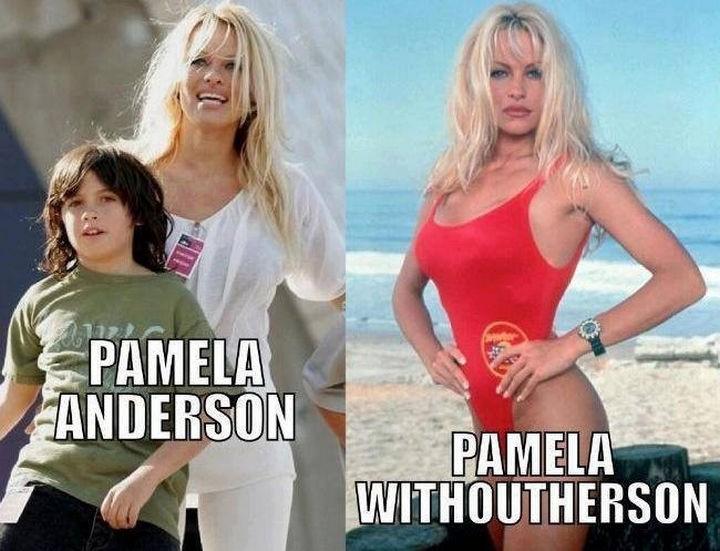 55 Hilariously Funny Celebrity Name Puns - Pamela Anderson.
