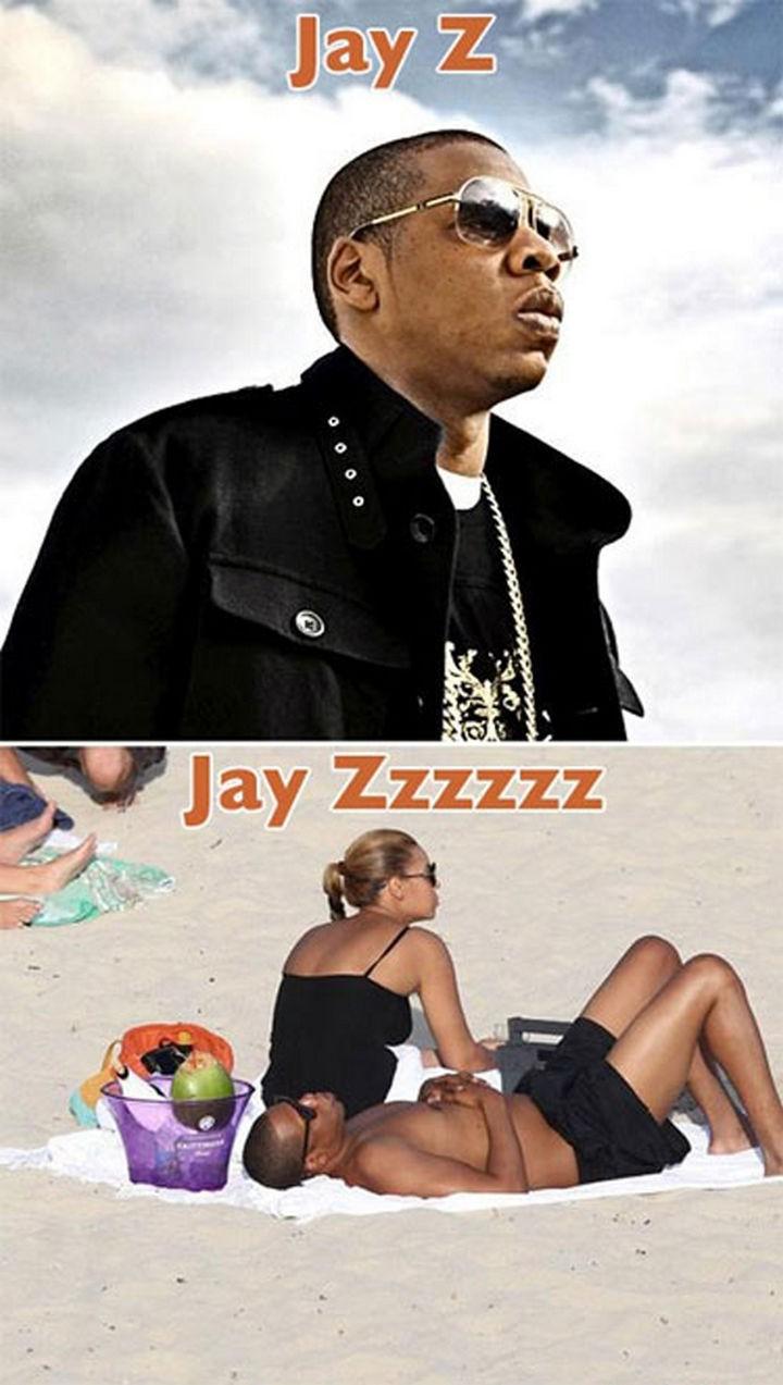 55 Hilariously Funny Celebrity Name Puns - Jay Z.
