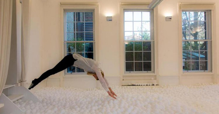 A Ball Pit in London Is for Adults Only and Promotes Playing