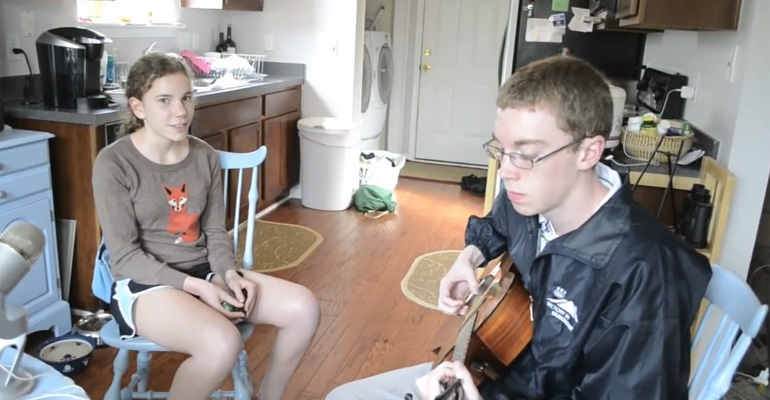 Brother and Sister Sing Cover of 'Hero' by Family of the Year.
