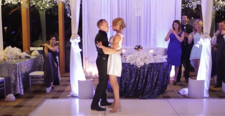 Couple Surprises Wedding Guests with Dirty Dancing Routine.