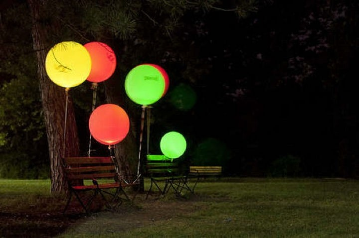 16 Party Hacks - Make these awesome DIY glowing balloons and bring the party outside.