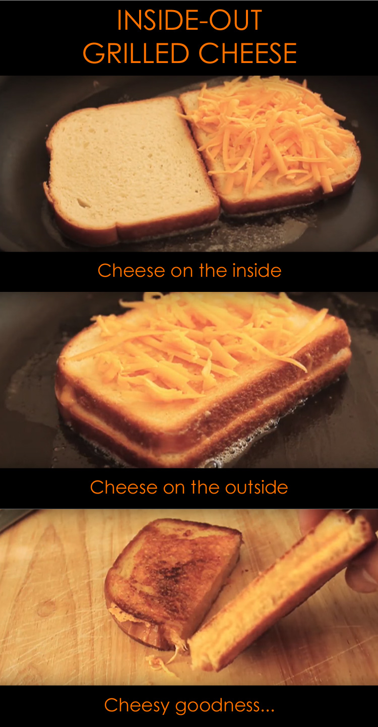 The inside-out grilled cheese sandwich is a creation by Chef John at Food Wishes and it tastes so heavenly.