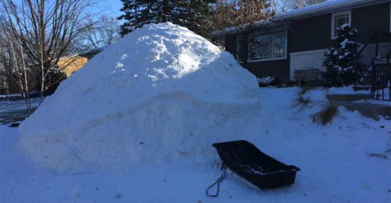 Three Brothers Wanted to Turn This Huge Mound of Snow into Something Epic and They Nailed It.