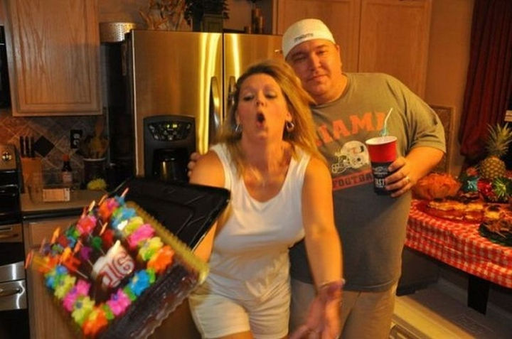25 Photos Before Disaster Strikes - Oops! These parents may need another cake for their teenager's 16th birthday.