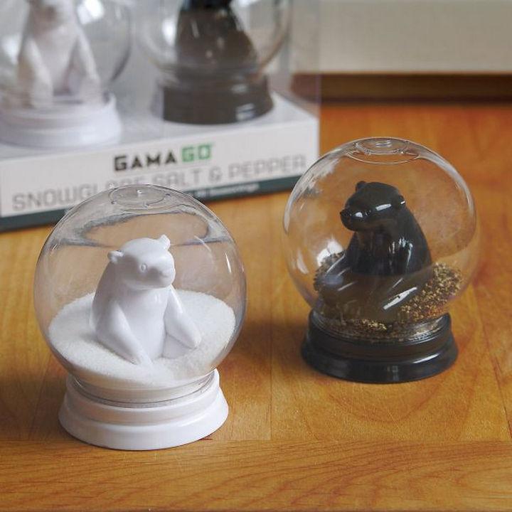 35 Kitchen Gadgets To Make Any Kitchen Guru Happy - Snow Globe Salt and Pepper Shakers.