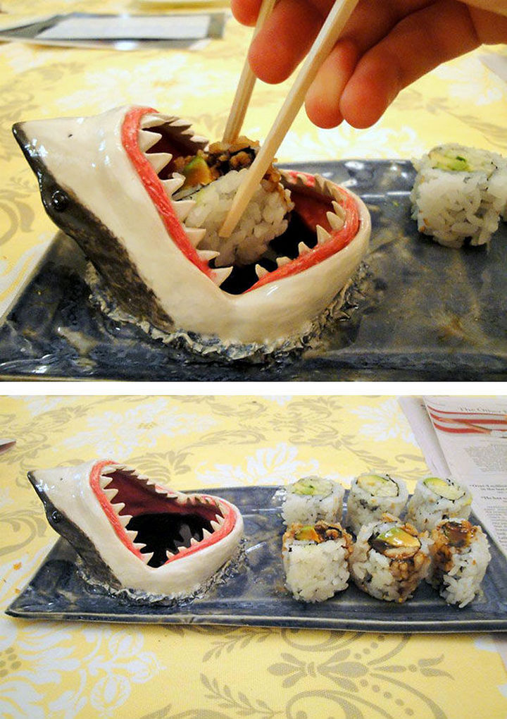 35 Kitchen Gadgets To Make Any Kitchen Guru Happy - Shark Sushi Plate.