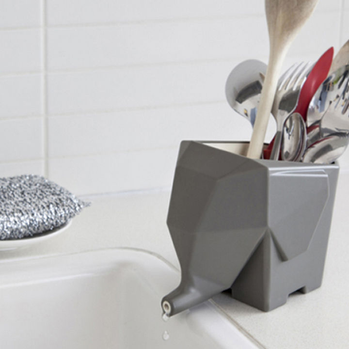 35 Kitchen Gadgets To Make Any Kitchen Guru Happy - Jumbo the Elephant Cutlery Drainer