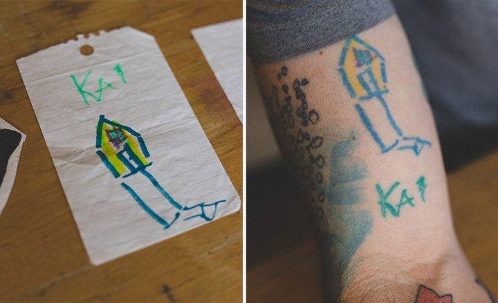 His son, Kai created this house in kindergarten at age 4.
