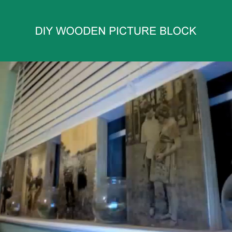 Put Family Pictures on Wood Using This Simple Technique.