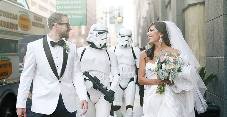 These Star Wars Superfans Had the Most Elegant Star Wars Wedding Ever