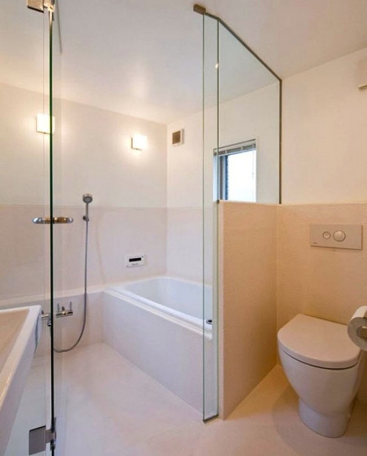 Small House Design in Japan - The washroom is very impressive with clean lines and it appears spacious.
