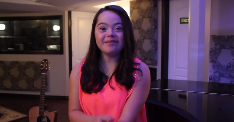 Young Woman with Down Syndrome Sings 'All of Me' Beautifully.
