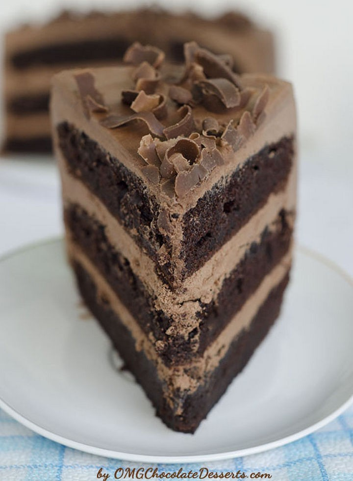 19 Chocolate Cake Recipes That Are Better Than Any Boyfriend - OMG chocolate chocolate cake.