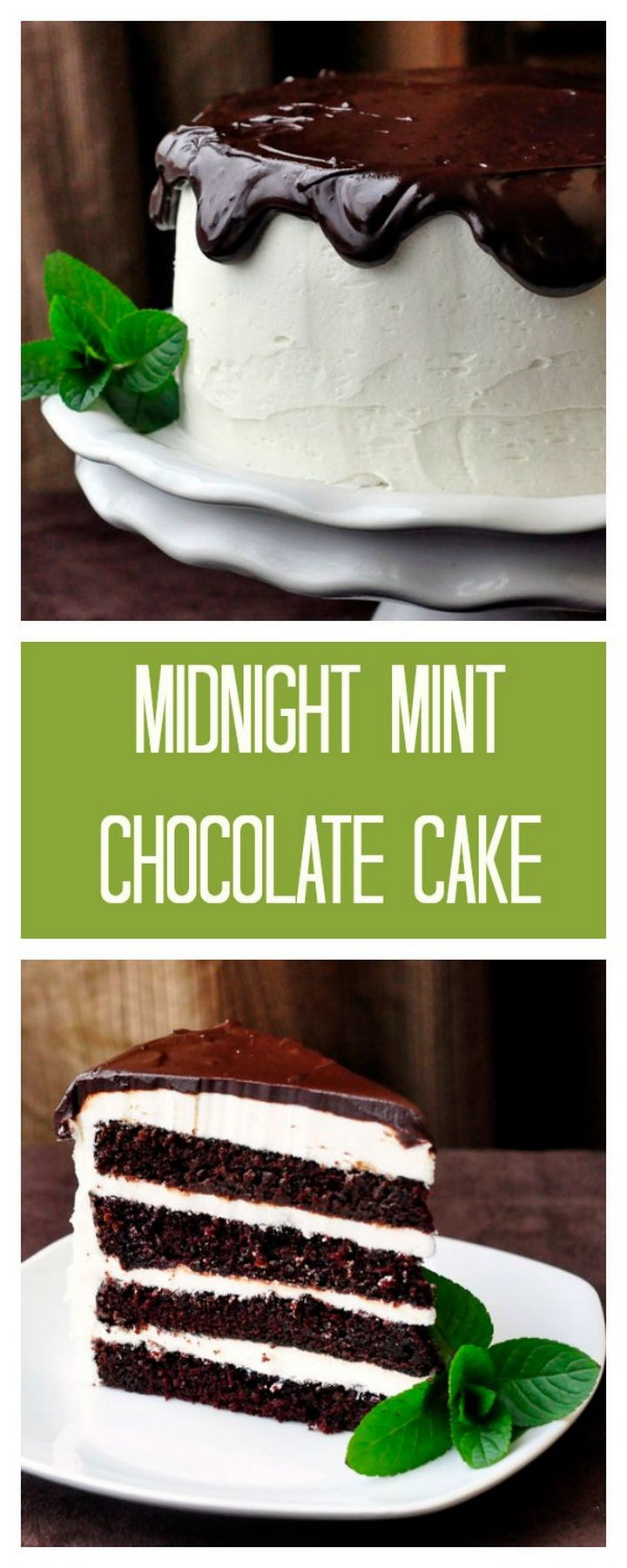 19 Chocolate Cake Recipes That Are Better Than Any Boyfriend - Midnight mint chocolate cake.