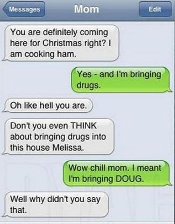 22 Hilarious Texts between Parents and Their Kids - Damn autocorrect!