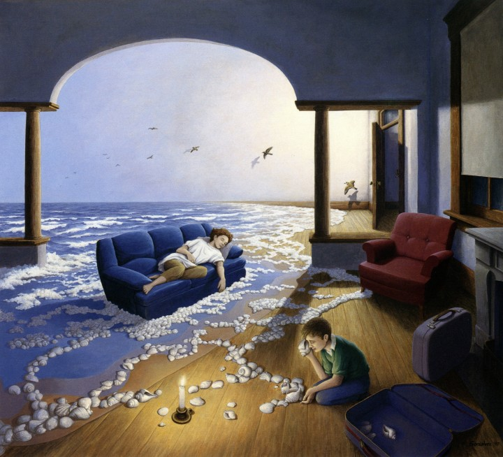 Rob Gonsalves Paintings - Making Waves.