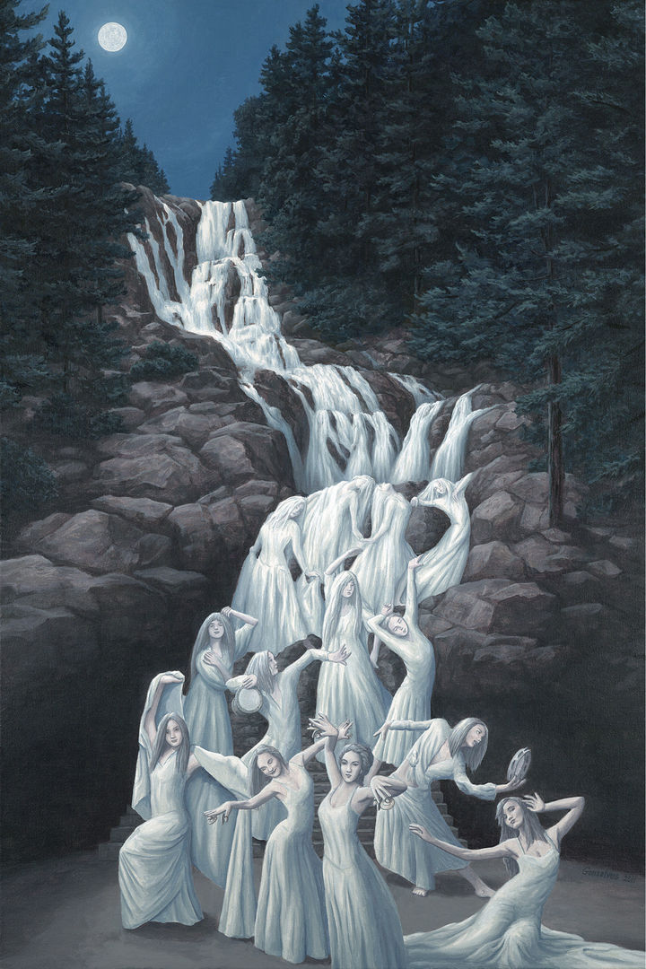 Rob Gonsalves Paintings - Water Dancers.
