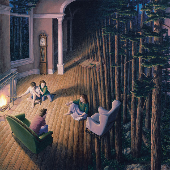 Rob Gonsalves Paintings - The Woods Within.