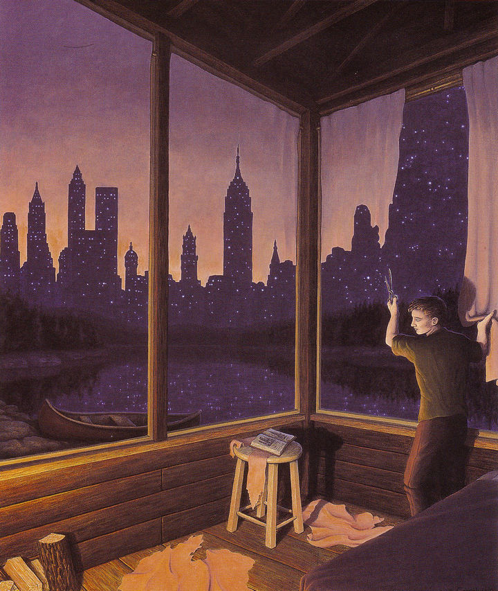 Rob Gonsalves Paintings - A Change of Scenery.