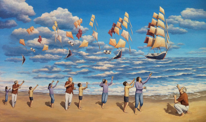 Rob Gonsalves Paintings - On the High Seas.