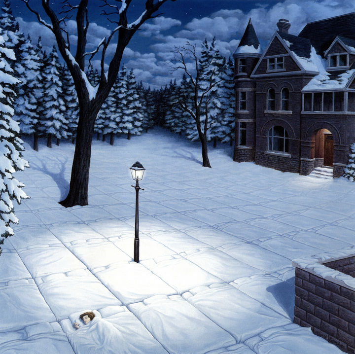 Rob Gonsalves Paintings - White Blanket.