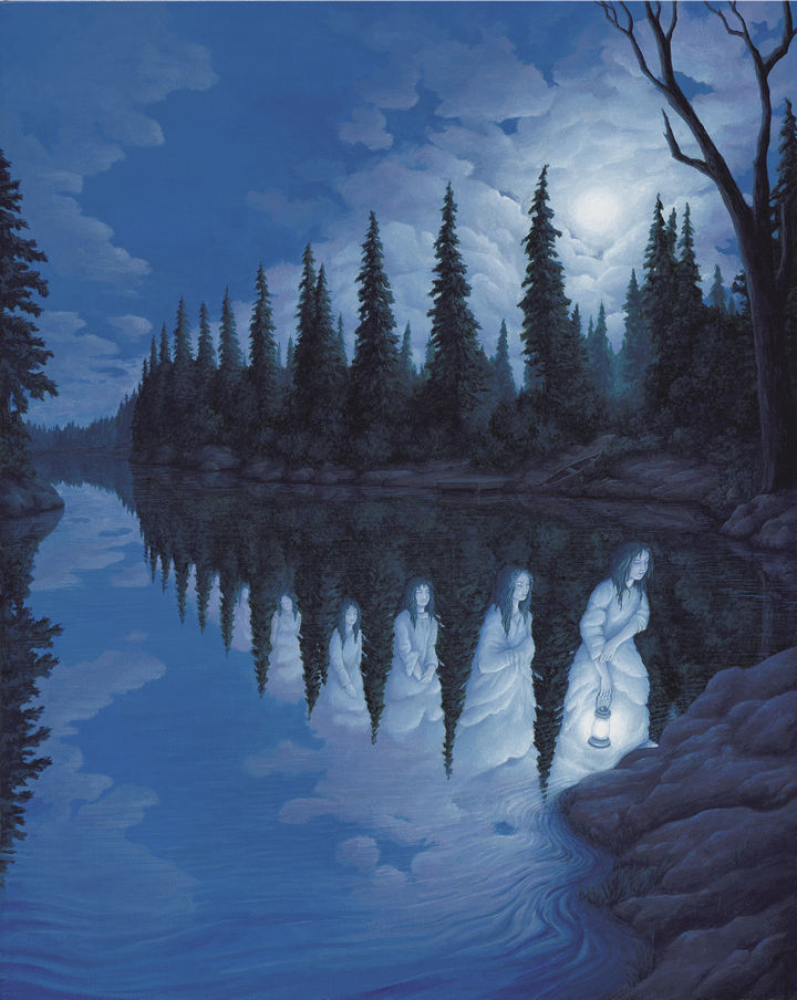Rob Gonsalves Paintings - Ladies of the Lake.